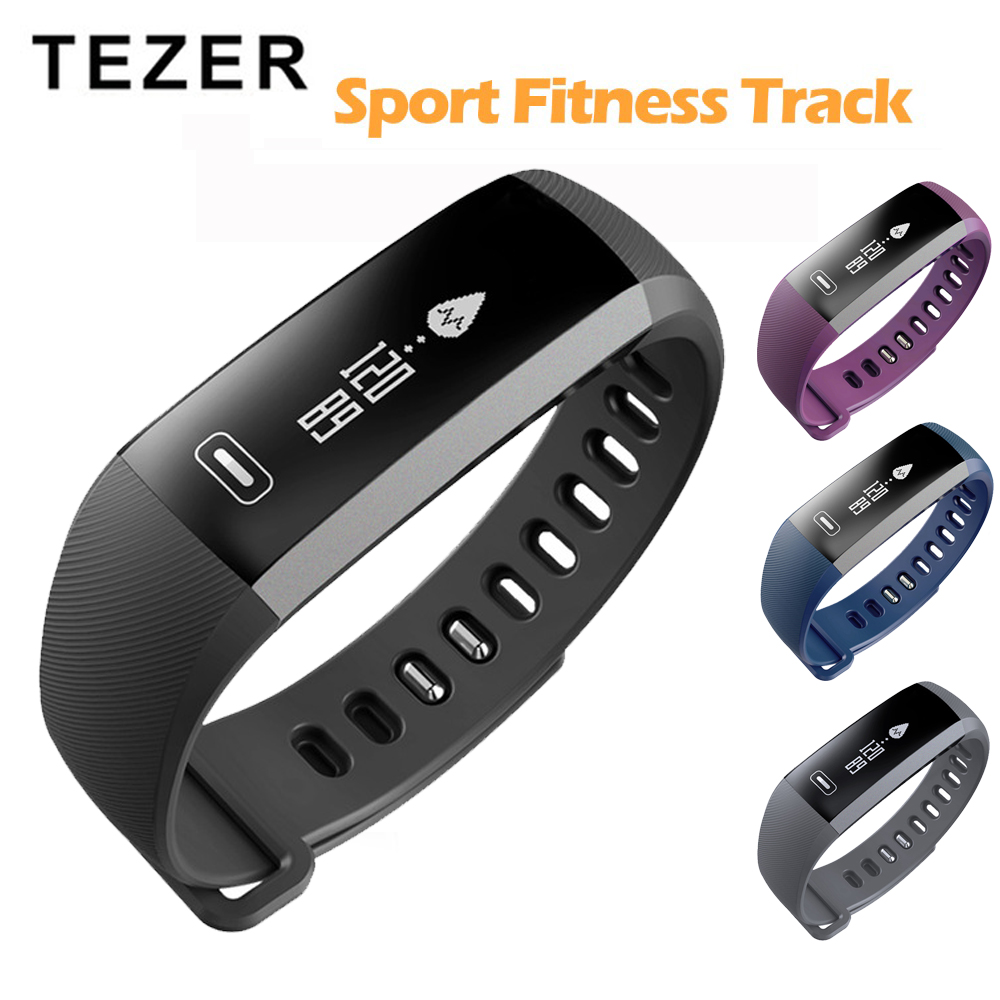 <font><b>Tezer</b></font> Sport Bracelet Watch men Smart wristBand Fitness Tracker Heart rate Blood Pressure Oxygen Oximeter Watch intelligent R5PRO image