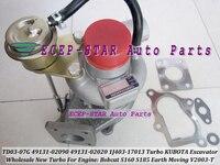TD03 07G 49131 02090 49131 02020 1J403 17013 Turbo Turbocharger For KUBOTA Excavator For Bobcat S160 S185 Earth Moving V2003 T
