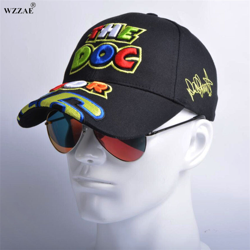 цены WZZAE Rossi VR 46 Embroidery Baseball Caps Hats For Men Motorcycle F1 MOTO GP VR46 Cap vrfortysix Snapback Gorras Casquette Bone