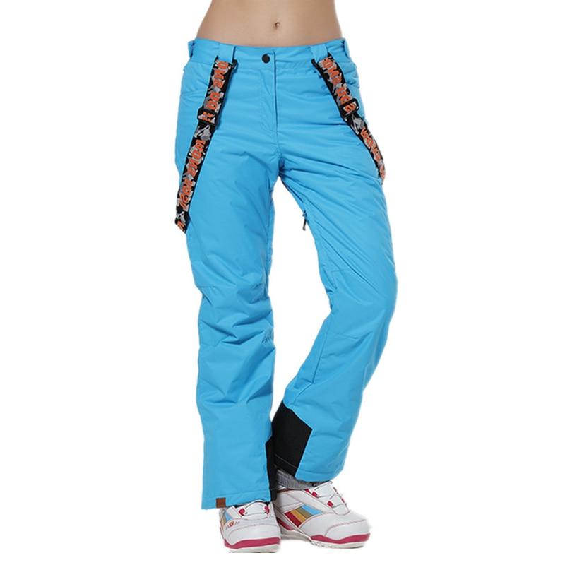 Hiver femmes pantalons de Ski filles pantalons de snowboard imperméables respirant solide pantalon de Ski Sports de plein air neige randonnée pantalon