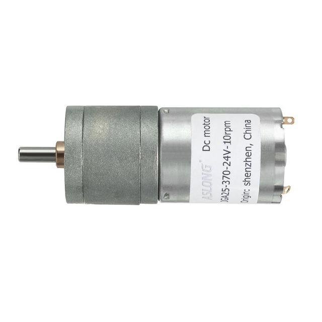 12V 5RPM DC Motors 4mm Diameter Shaft Electric Gear Box Speed Reduce Replacemen Motor Geared Speed Reduce High Torque