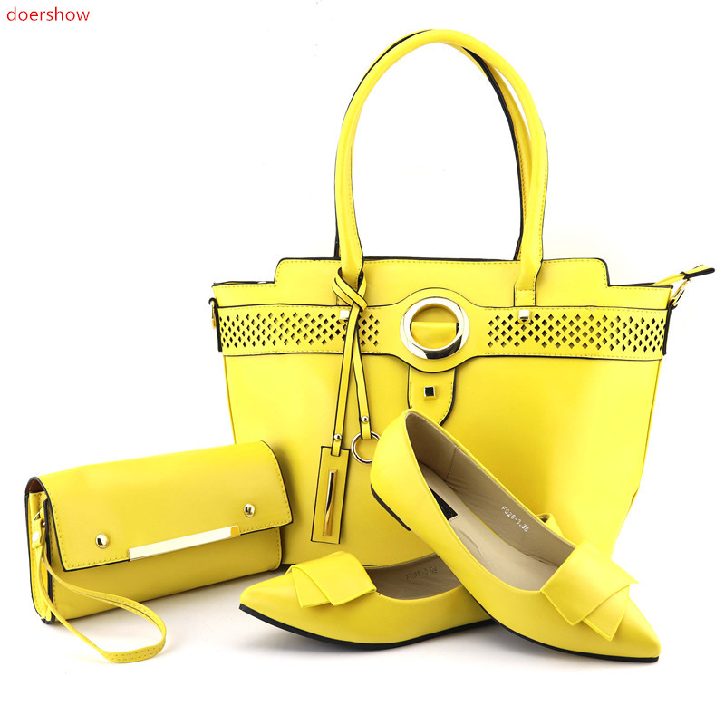 doershow New Arrival Italian Ladies Shoes With Matching Bag Set For Wedding Party Fashion Women Pumps Shoes And Bag set! HQQ1-1 doershow african shoes and bags fashion italian matching shoes and bag set nigerian high heels for wedding dress puw1 19
