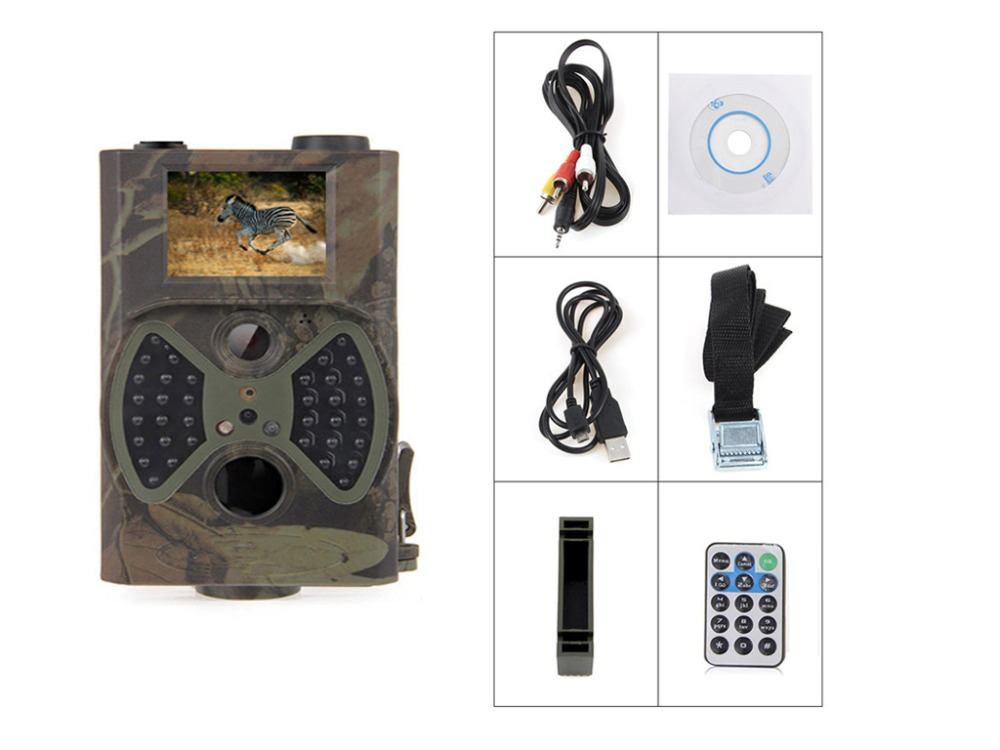 HC300 Hunting font b Camera b font 2 0 LCD 12MP 1080p 940NM Night Vision IR