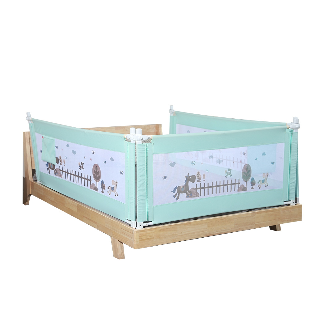 1.8M Cartoon Newborn Baby Cite Bed Guardrail Crib Rails Baby Safety Fence Guard Adjustable Bed Rail Infant Bed Pocket Playpen cite marilou