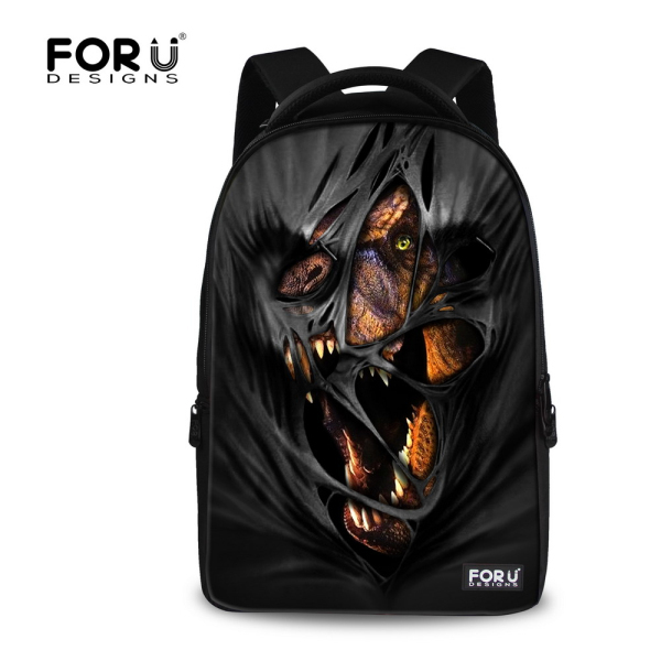 Black Large Laptop Backpacks Men Notebook Bag Printing Dinosaur Lion Travel Backpack School Bags for Teenager Boys Mochila grizzly new laptop backpack men for teenager boys fashion large capacity mochila multifunction travel bags waterproof school bag