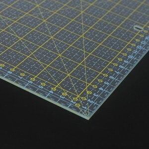 Image 5 - 스퀘어 30*30 Cm 패치 워크 눈금자 두꺼운 아크릴 투명한 퀼트 재봉 눈금자 재단사 스텐실 측정 도구 용 눈금자 절단