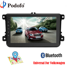 Podofo Android 6.0 Car Radio 8″ 2din DVD 1024×600 GPS Navigation Capacitive Bluetooth USB 2 din Universal Player  For Volkswagen