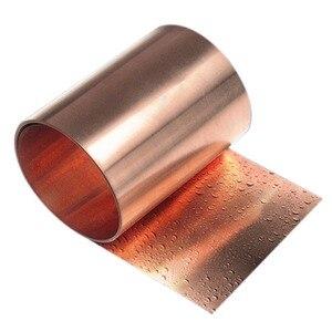"Image 2 - 1pcs New 99.9% Pure Copper Cut Metal Sheet Foil Roll Tape 0.1*100*1000mm 33ft 39"""