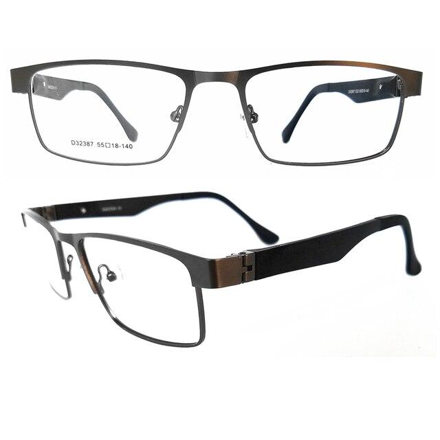 562842f809c Rectangle Metal Full-rim Optical Glasses-Classic Eyewear Frames 180 Degree  Open Arm Square Non-Prescription Clear Lenses -D32386