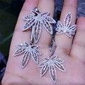 CP95 Lujo Diseñador de Moda Plata de Ley 925 Joyas de Plata/Oro/Oro Rosa Plateado Zirconia Pendiente/Collar/Juego de anillos
