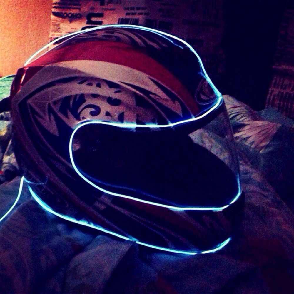 Неоновый свет неоновый светодиодный светильник EL провод веревка трубка гибкая светодиодная лента свет с контроллером Декорации для вечеринки водонепроницаемый 1 м 2 м 3 м TW