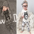 2016 Autumn Winter style 0-2T Newborn baby boy girl clothes baby clothing set boy Cotton Long sleeve T-shirt+pants 2pcs