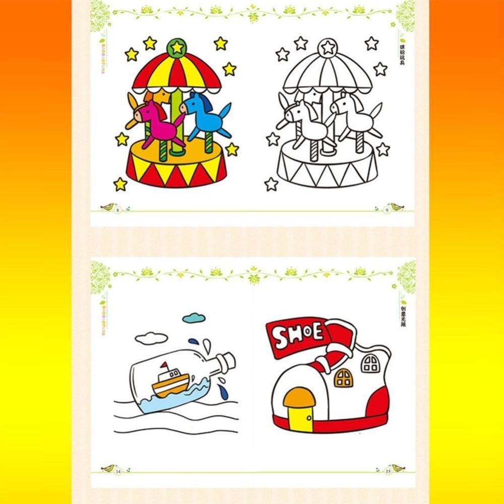 Dongzhur Bayi Graffiti Buku Mewarnai Buku Gambar Bayi Awal