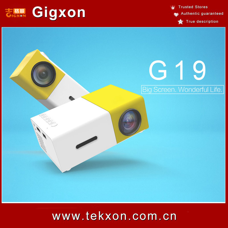 GIGXON - G19 2016 new hot mini projector HD 1080P best gift business partner home theater projector