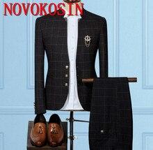 2019 Standard Collar Groom Wear Classic Custom Made Men Suit Blazers Retro Gentleman Style Tailor Slim Fit Wedding Suits