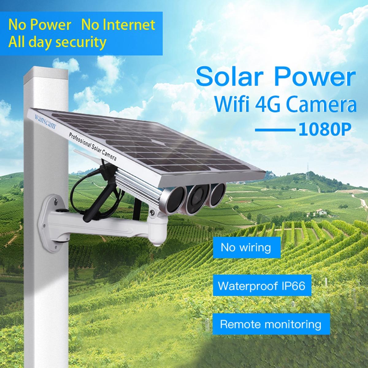 Caméra IP de sécurité solaire WiFi 4G 1080 P Surveillance vidéo sans fil extérieure P2P détection de mouvement caméra CCTV caméra IP