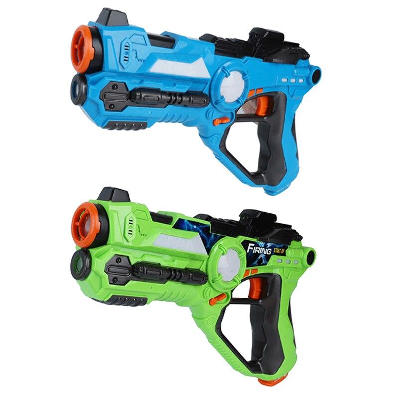 DA XIN 2 pcs/ensemble cs jeu jouet guns Vert et Bleu électrique bataille jouet pistolet infrarouge capteur en plastique laser tag pistolet