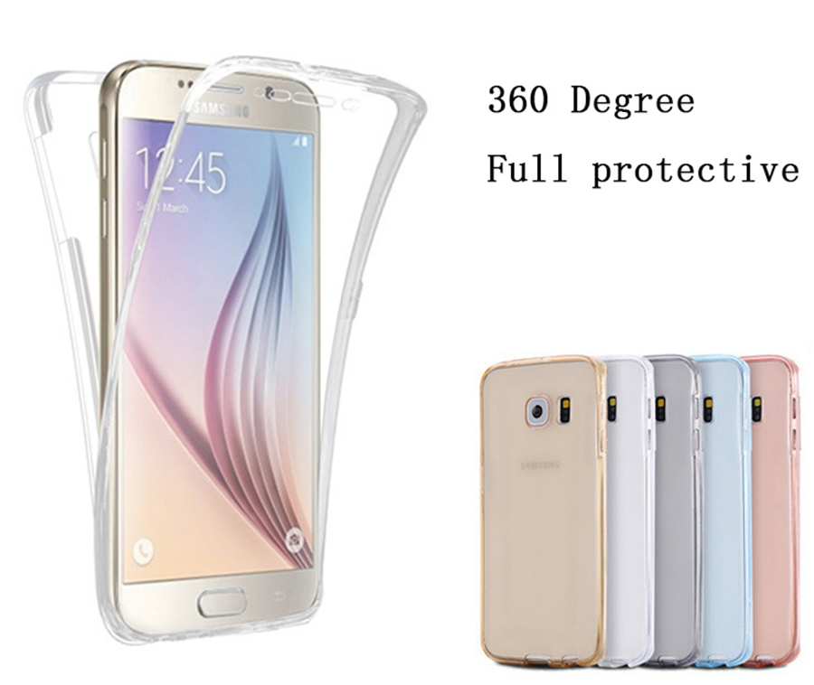Clear Soft Phone Case For <font><b>Samsung</b></font> Galaxy A6 A8 Plus 2018 <font><b>A3</b></font> A5 A7 J3 J5 J7 2015 <font><b>2016</b></font> 2017 Neo Prime Silicone Full Cover image