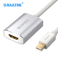 SAMZHE Mini Displayport To HDMI Cable Adapter Male To Female Mini DP Thunderbolt HDMI Adapter 4K