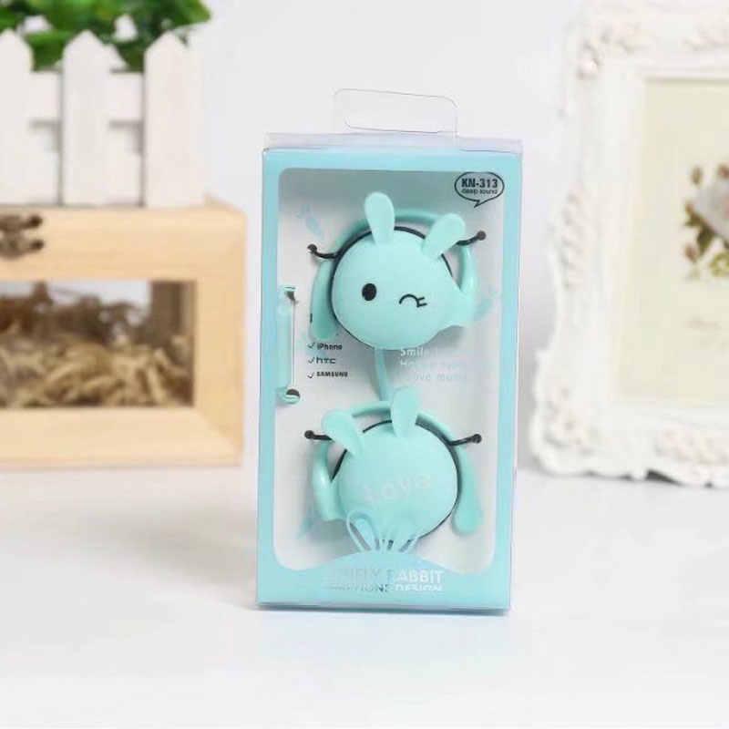 กระต่ายน่ารักการ์ตูนสเตอริโอหูฟังหูฟังพร้อมไมโครโฟน 3.5 มม.หูฟังกีฬาชุดหูฟังสำหรับสาวเด็ก Xiaomi โทรศัพท์มือถือโทรศัพท์ของขวัญ Mp3