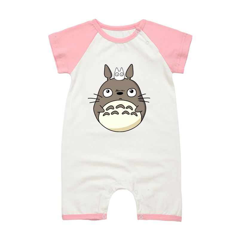 Toddle Newborn Baby Short Sleeve   Romper   TOTORO Cartoon Printed Clothes Infant Baby Boys Girls Cotton Jumpsuits Pajamas