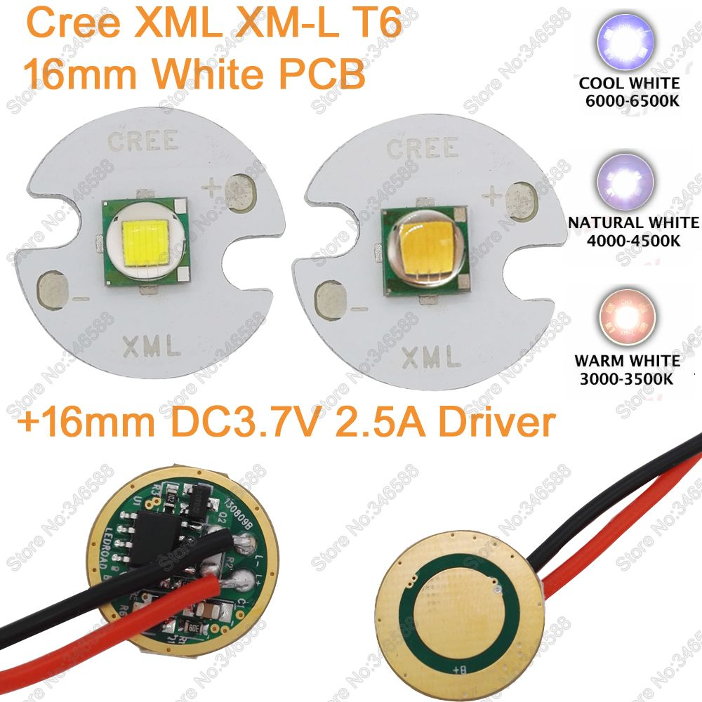 Home original cree xm l2 xml2 led emitter lamp light cold white - Cree Xml Xm L T6 Cold White Neutral White Warm White 10w High Power Led