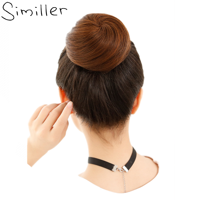 Similler Synthetic Hair Curly Chignon Hairpiece Elastic Scrunchie Extensions Buns Drawstring 34 Colors Available 613# 1B 2# 99J