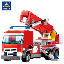 High Quality Fire Fighting Truck Building Blocks Compatible with LEGO Fire Educational Bricks Toys Fireman DIY Bricks Brinquedo все цены