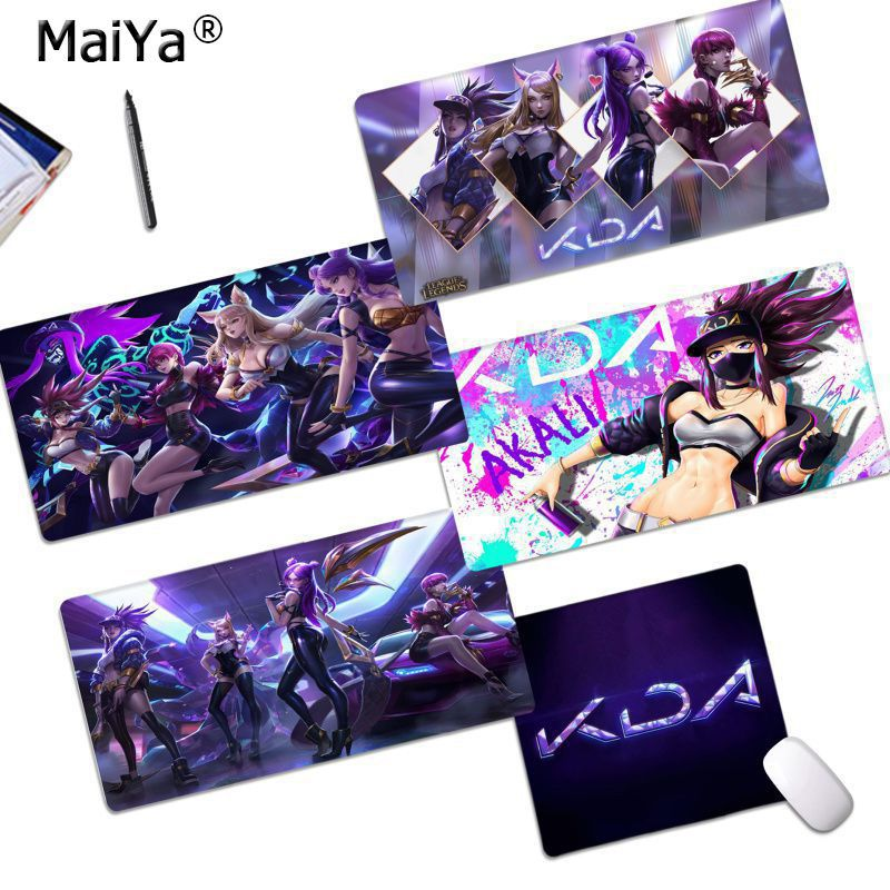 Maiya Cool New New Designs League Of Legends KDA Office Mice Gamer Soft Mouse Pad Free Shipping Large Mouse Pad Keyboards Mat