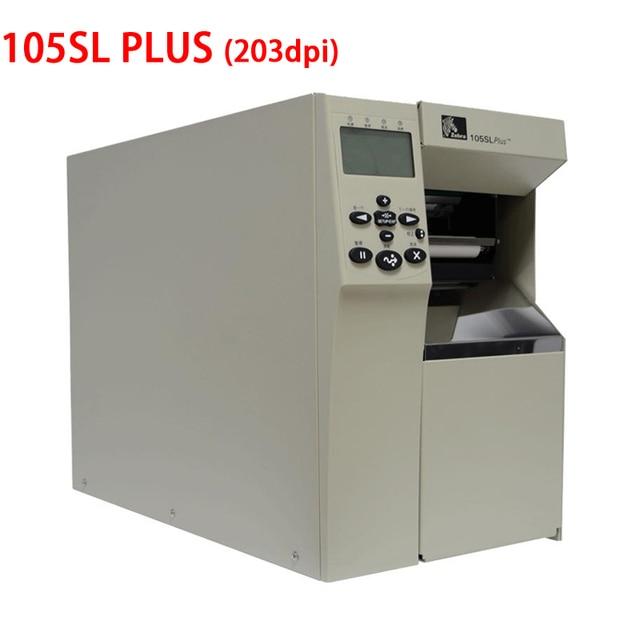 Zebra 105sl plus industrial adhesivo impresora 203 DPI Modelo Base Seguir trabajando 24 horas