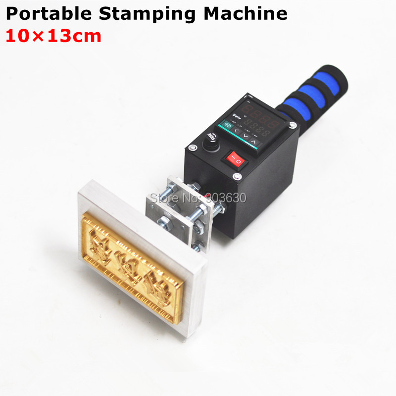 Handheld Hot foil stamping machine branding machine leather printer creasing machine Marking Press on wood LOGO(10x13cm) zonesun 5x7 8x10 10x13cm220v maunal stamping machine hot foil paper wood leather logo machine 150w heat press machine