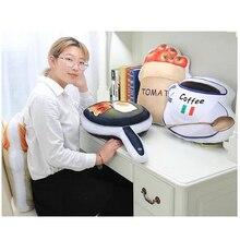Купить с кэшбэком Decorative Pillows Food Cushion Toy Food Bread Potatoes Milk Coffee Grapes Kawaii Cute 3d Japan Pillow Nordic Home Chair Cushion