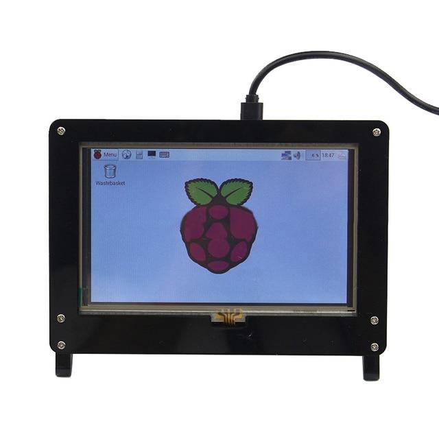 Raspberry Pi Escudo protetor para 5 Polegadas Tela de Toque Capacitivo HDMI USB 1024*600 IPS LCD Tampa Do Monitor para Monitores LCD