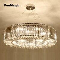 Post-moderne Luxus Runde Kristall Anhänger Licht Restaurant Kronleuchter Wohnzimmer Esszimmer Leuchten Schlafzimmer Beleuchtung Hängen Lampe
