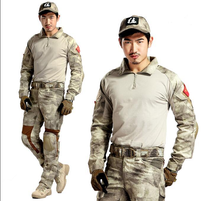 Uniforme militaire Multicam Camouflage ensemble CS chemise pantalon et combinaison de Combat genouillère A-TACS Em6914