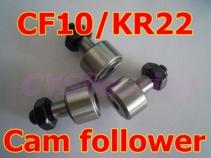 10 шт./лот KR22 CF10 трек игольчатый подшипник, тип стержня подшипники кулачкового механизма для вала 10 мм