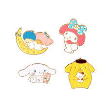 Kawaii Bunny Puppy My Melody Enamel Pins Collar Hat Lapel Pin Japanese Cartoon Jewelry Bunny Jewelry Enamel Pins(China)