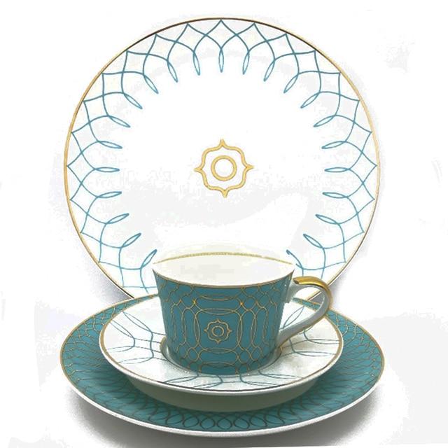 Geometric Figure Dinnerware Set Ceramic Steak Dinner Plates Dishes Set With Coffee Mug Bone China 10inch  sc 1 st  AliExpress.com & Geometric Figure Dinnerware Set Ceramic Steak Dinner Plates Dishes ...