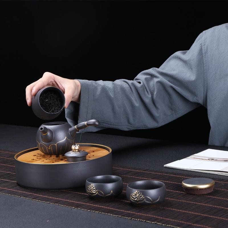 Purple Sand Chinese Kung Fu Tea Set Porcelain Teaware Set Chinese Traditions Gai Wan Tea Cup Tea Sets Gaiwan Tea Pot Set Gift 1
