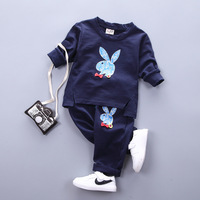 Spring Autumn Baby Girls Sets Cartoon Long Sleeve T Shirt Pants Newborn Clothes Infant Sport Suit