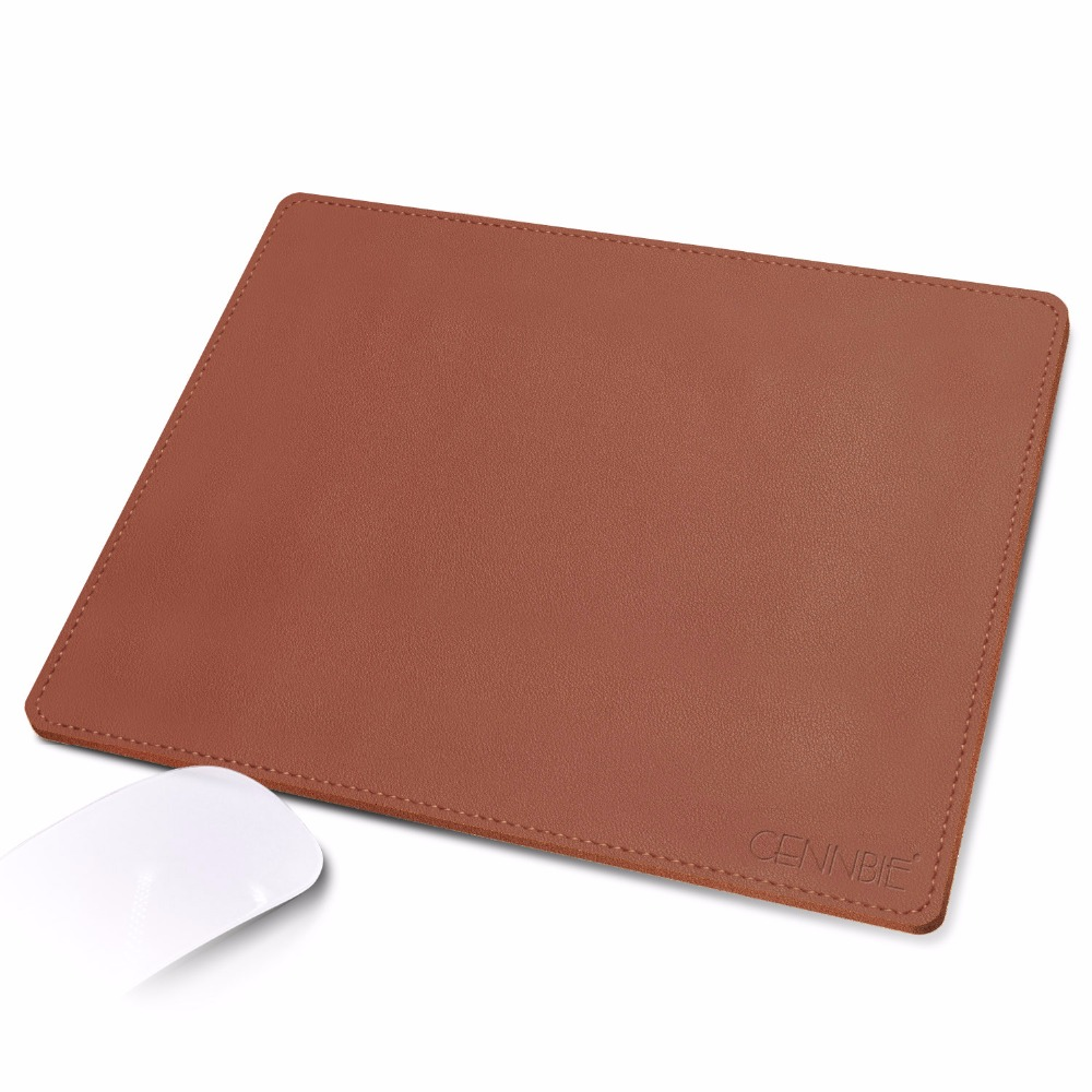 CENNBIE PU Leather Mouse Pad Water Proof Non-slip Base With Elegant Stitched Edges 10