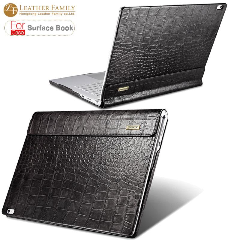 for surface book case crocodile grain genuine cowhide leather case