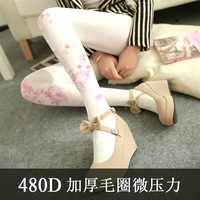 NOVIA SW 022 2018 Autumn And Winter Women Girls Tights New Pantyhose 480D Thick Warm Terry