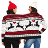 Two Person ugly christmas sweater Xmas Couples Pullover Novelty Christmas Blouse Top sweatershirt pull hiver femme 2018