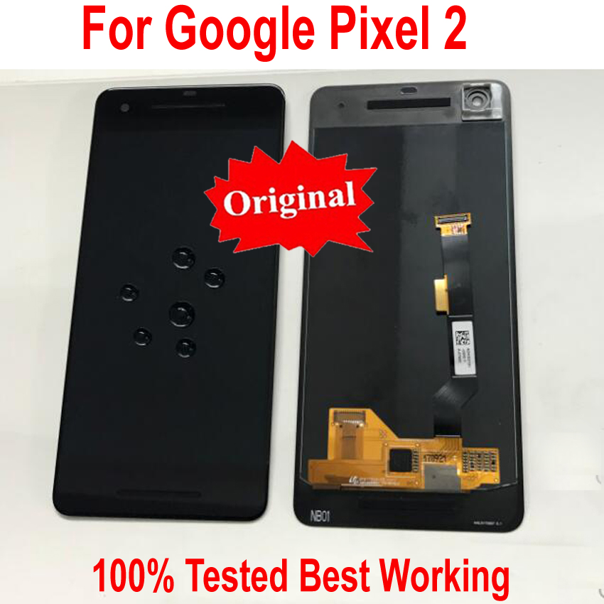 100% Original Working LCD Display Touch Screen Digitizer Assembly Sensor For HTC Google Pixel 2 Pixel2 2 XL Phone Panel Parts