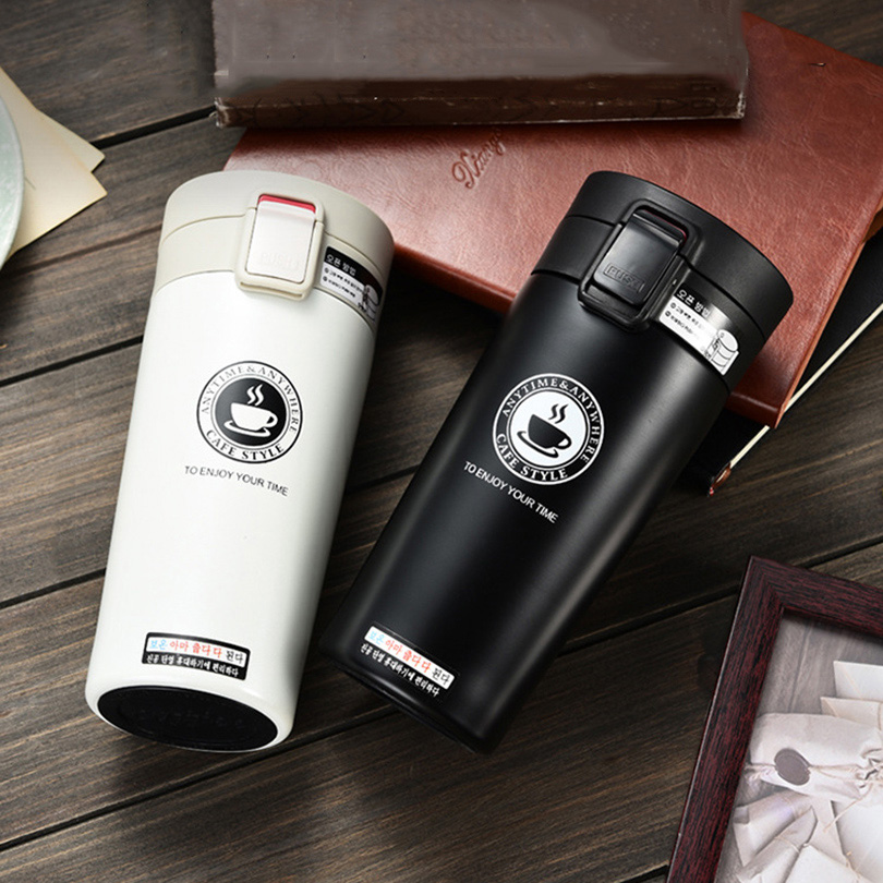 UPORS Premium de la taza de café de acero inoxidable termo copas de vaso vacío frasco termo botella de agua té taza Thermocup