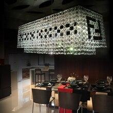 Бесплатная доставка современная прямоугольные стекло люстра k9 высокое качество F Черно-Белые большие современные люстры 110-240 В