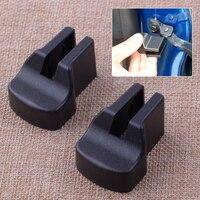 Citall 1 par preto abs plástico verificação da porta do carro braço capa guarnição apto para ford mustang 2015 2016 2017 2018 acessórios|Capa de proteção para fechadura| |  -