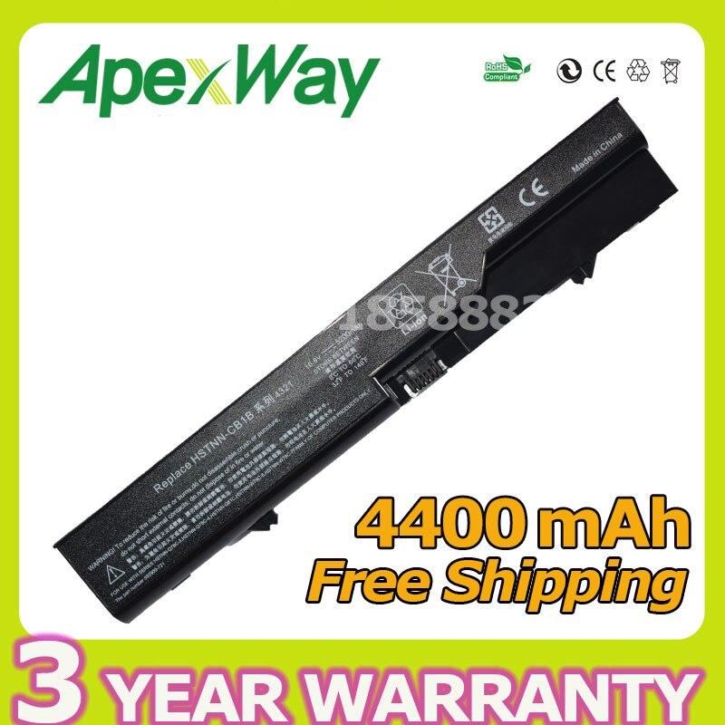 Apexway 4400mAh 11.1V Laptop Battery for HP ProBook 4320s 4321S 4325s 4326s 4420s 4421s 4425s 4520s 4525s 420 425 4320t 620 625