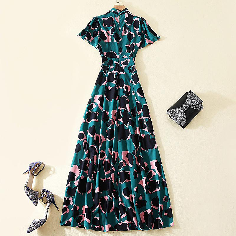 Plus Size Dress New High Quality Runway Camouflage Spring Summer Women'S Party Sexy  Elegant Boho Beach Print Maxi Long Dresses